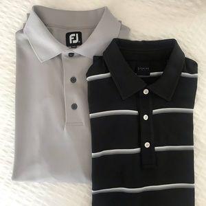 Two Men's Golf Shirts; FootJoy & Dunning